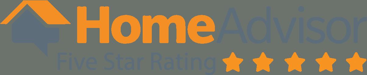 Home advisor 5 star rating logo