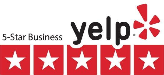 Yelp 5 star business logo